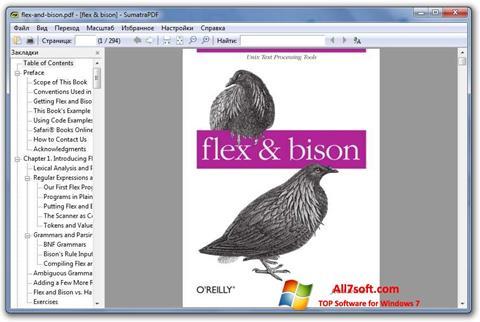 Petikan skrin Sumatra PDF untuk Windows 7