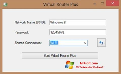 Petikan skrin Virtual Router Plus untuk Windows 7