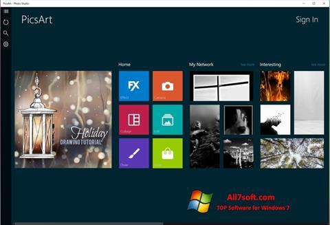 Petikan skrin PicsArt untuk Windows 7