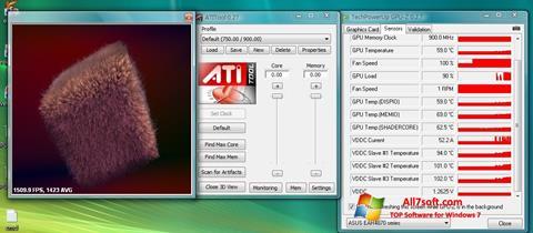 Petikan skrin ATITool untuk Windows 7
