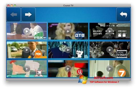 Petikan skrin Crystal TV untuk Windows 7