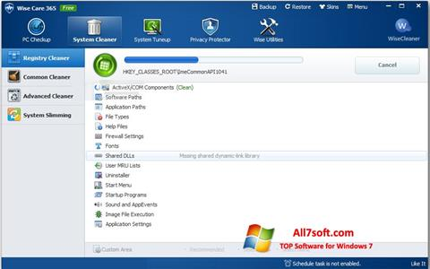 Petikan skrin Wise Care 365 untuk Windows 7