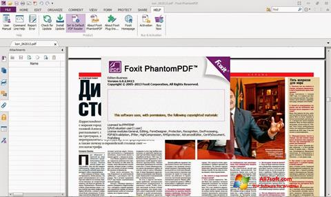 Petikan skrin Foxit Phantom untuk Windows 7