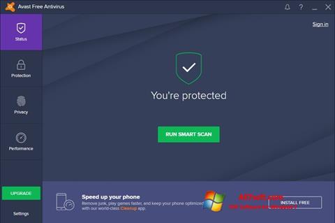 Petikan skrin Avast Free Antivirus untuk Windows 7
