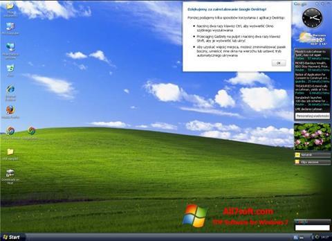 Petikan skrin Google Desktop untuk Windows 7