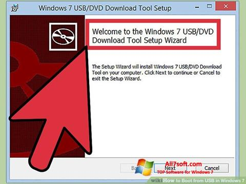 Petikan skrin Windows 7 USB DVD Download Tool untuk Windows 7