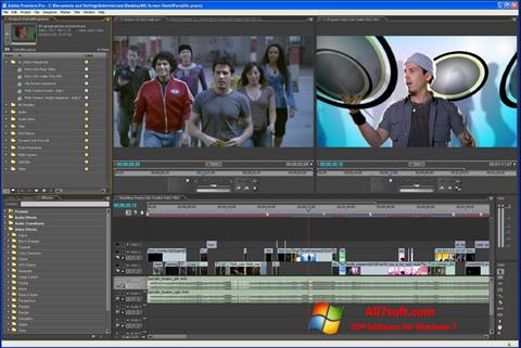 Petikan skrin Adobe Premiere Pro untuk Windows 7