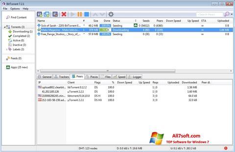 Petikan skrin BitTorrent untuk Windows 7