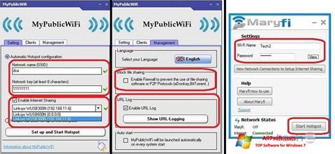 Petikan skrin MaryFi untuk Windows 7