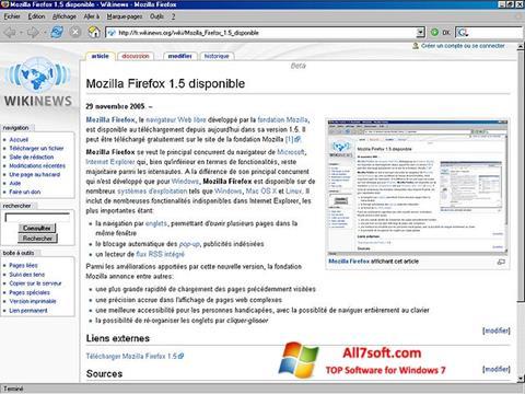 Petikan skrin Mozilla Firefox untuk Windows 7