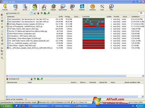 Petikan skrin eMule untuk Windows 7