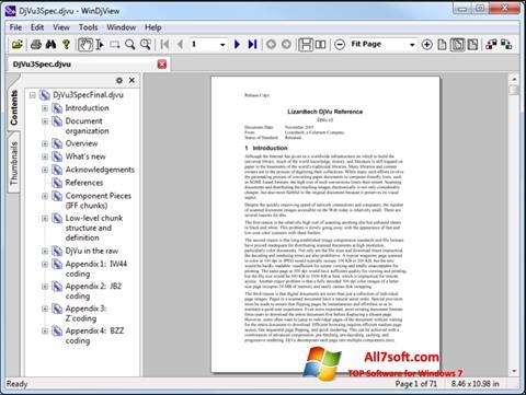 Petikan skrin WinDjView untuk Windows 7