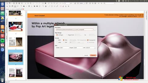 Petikan skrin Master PDF Editor untuk Windows 7