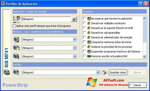Petikan skrin PowerStrip untuk Windows 7
