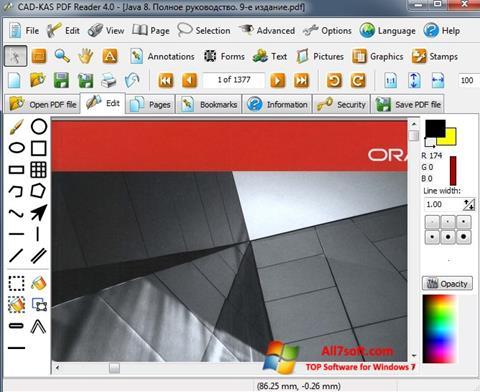 Petikan skrin PDF Reader untuk Windows 7