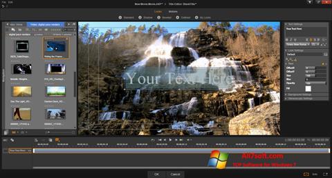 Petikan skrin Pinnacle Studio untuk Windows 7