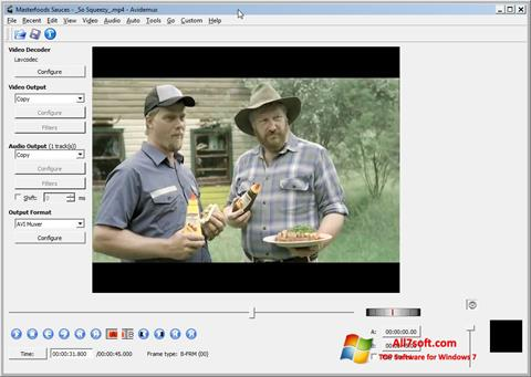 Petikan skrin Avidemux untuk Windows 7