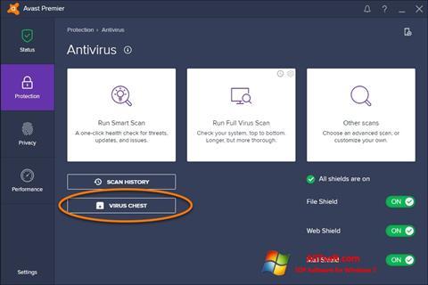 Petikan skrin Avast untuk Windows 7