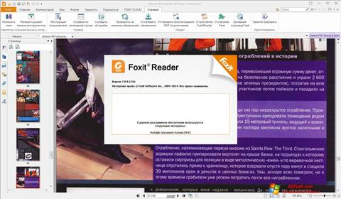 Petikan skrin Foxit Reader untuk Windows 7