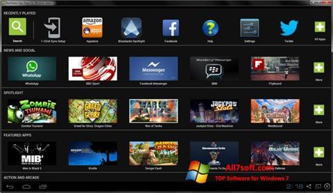 Petikan skrin BlueStacks untuk Windows 7