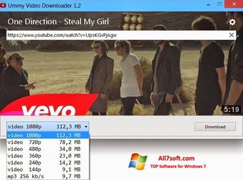 Petikan skrin Ummy Video Downloader untuk Windows 7