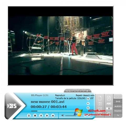 Petikan skrin BSPlayer untuk Windows 7