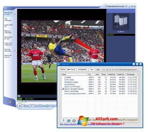 Petikan skrin SopCast untuk Windows 7