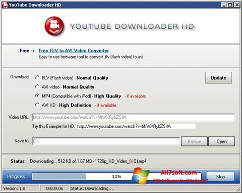 Petikan skrin Youtube Downloader HD untuk Windows 7