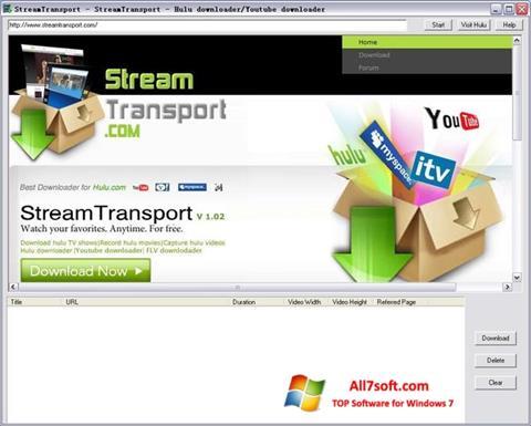 Petikan skrin StreamTransport untuk Windows 7